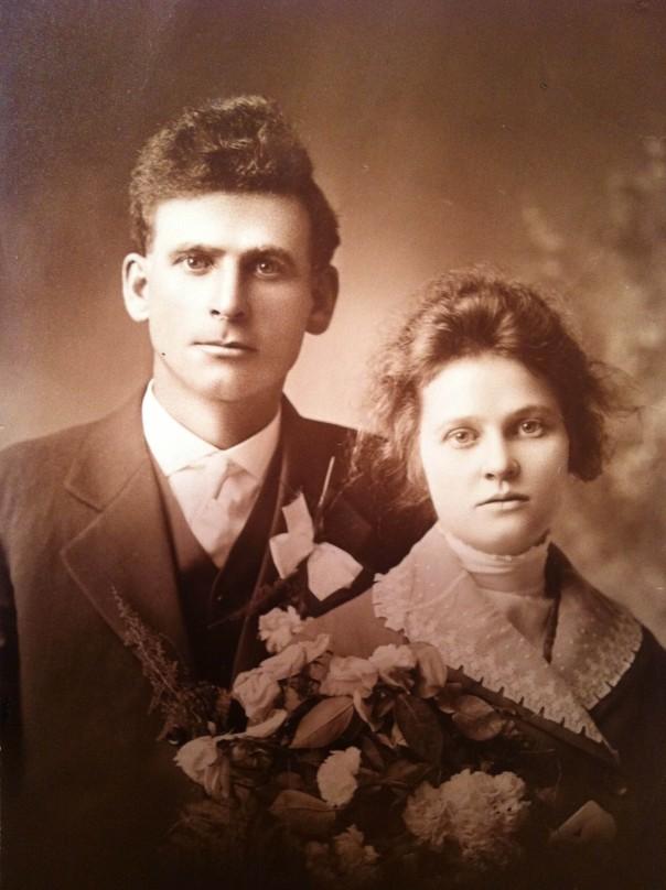 """Mary Jannet """"Jennie"""" (Foley) Walsh and Martin J. Walsh Sr. Wedding, Nov. 4, 1915"""