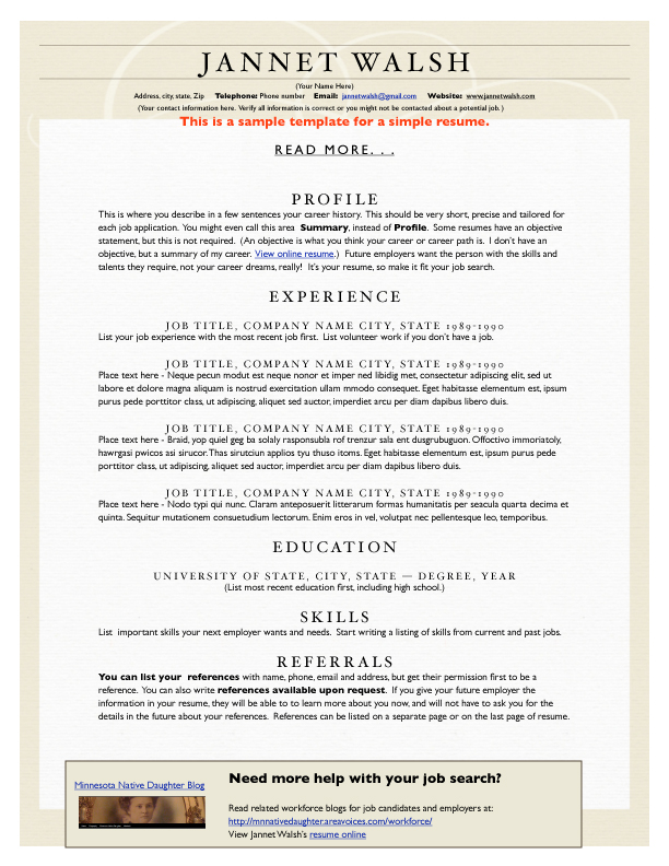 biogrophy resume – Microsoft Word Biography Template